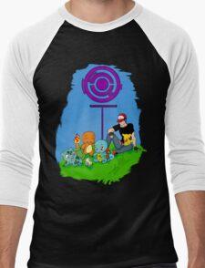 Pokemon Go - A life in the day  Men's Baseball ¾ T-Shirt