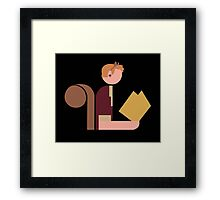 Squirrel Lady Reads Framed Print