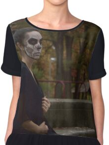 Death Wears Black (2) Chiffon Top