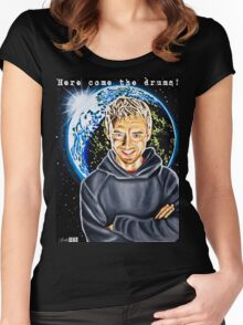 Here Come the Drums! Women's Fitted Scoop T-Shirt