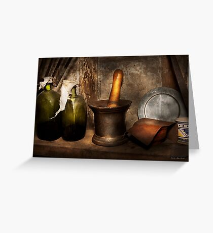 Pharmacy - Pestle - Home remedies Greeting Card