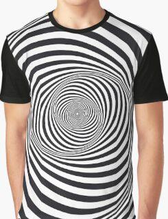 Spiral - Op Art - Optical Illusion Graphic T-Shirt