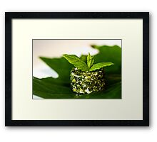 Green on green in the middle white  Framed Print