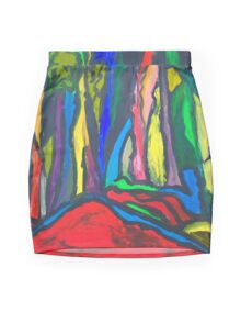 Abstract Forest Mini Skirt