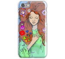 Shakespeare - Ophelia Hamlet Literary Illustration iPhone Case/Skin