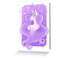 Purple Unicorn Portrait Greeting Card