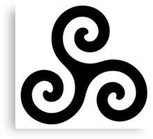 Merlin druid symbol Canvas Print