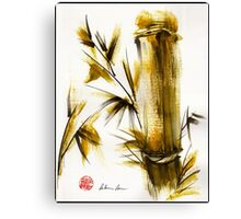 """Morning Light"" Original acrylic and ink bamboo painting. Canvas Print"