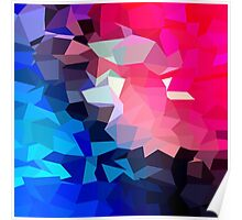 Modern,abstract,color,beautiful,cool,fun,polygamy,design Poster