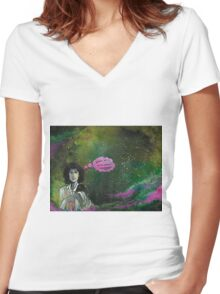 Where Did I Park? Women's Fitted V-Neck T-Shirt