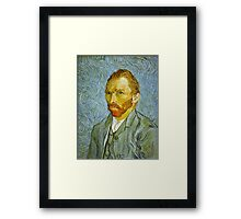 'Self Portrait' by Vincent Van Gogh (Reproduction) Framed Print