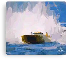Speed Boat Canvas Print