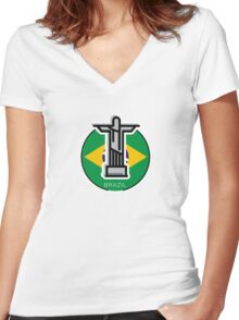 Around the world - Brazil Women's Fitted V-Neck T-Shirt