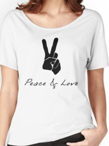 Peace & Love - Peace Sign Victory Hand Signal  Women's Relaxed Fit T-Shirt