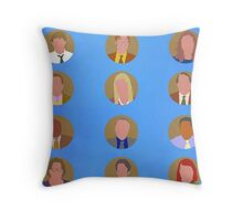 The Office Minimalist Cast Throw Pillow