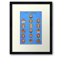 The Office Minimalist Cast Framed Print