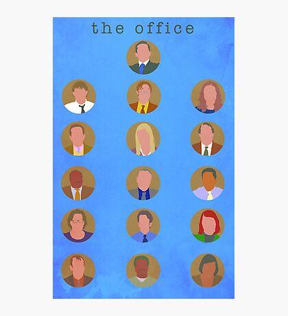 The Office Minimalist Cast Photographic Print