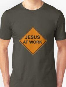 Jesus at Work Road Sign T-Shirt
