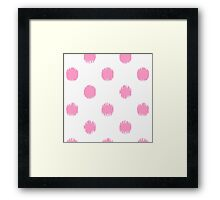 Pink,big,polka dots,on white,girly,cute,modern,trendy,contemporary Framed Print