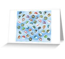 Pokeball Variants Scatter Pattern Greeting Card