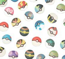 Pokeball Variants Scatter Pattern Sticker