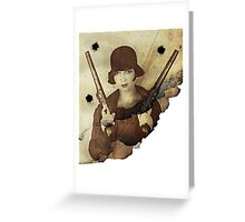 Louise Brooks  and her guns Greeting Card