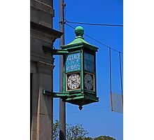 The Village of Elmore Clock (vertical) Photographic Print