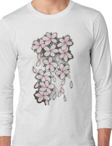 """Blossoms"" Pink Long Sleeve T-Shirt"