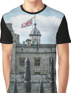 The Union Jack over the Tower of London Graphic T-Shirt