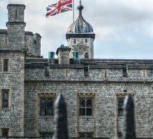 The Union Jack over the Tower of London Sticker