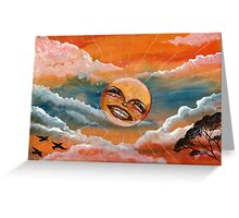 Obnoxious Sunset Greeting Card