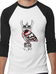 """""""Bold-School"""" The Watcher. Men's Baseball ¾ T-Shirt"""