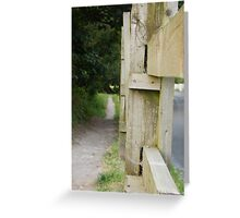 The Path By The Road Greeting Card
