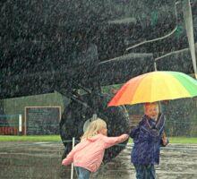 Fun in the Rain. Sticker