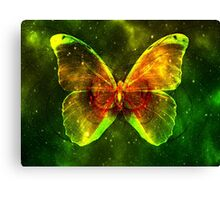 Space Butterfly Canvas Print