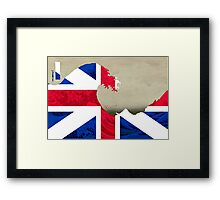 Great (Britain) Wave Framed Print