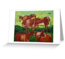 'Les Vaches' by Vincent Van Gogh (Reproduction) Greeting Card
