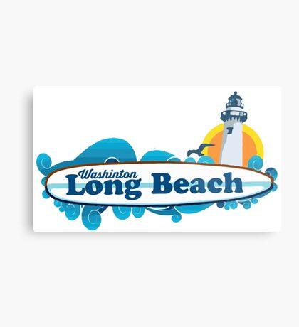 Long Beach - Washington State. Metal Print