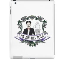 Mr. And Mrs. Tesla iPad Case/Skin