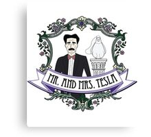 Mr. And Mrs. Tesla Canvas Print