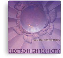 Electro High Tech City Canvas Print