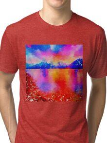Beautiful,landscape painting,water color Tri-blend T-Shirt