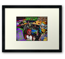 Post-Apocalyptic Arcade - The Monster Squad - Splatterhouse - Critters - The Gate - Friday the 13th - Return of the Living Dead Framed Print