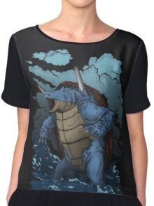 Realistic Squirtle Chiffon Top