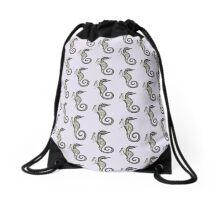 Mermaid and Seahorse Drawstring Bag