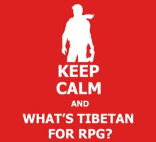 Keep Calm And What's Tibetan For RPG? White One Piece - Short Sleeve
