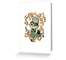 A Grinning Greg Greeting Card