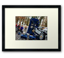 Time Collision Framed Print