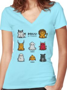 Kawaii of Thrones Women's Fitted V-Neck T-Shirt
