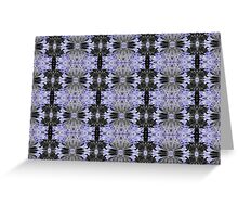 Agapanthus Coloursplash Pattern Greeting Card